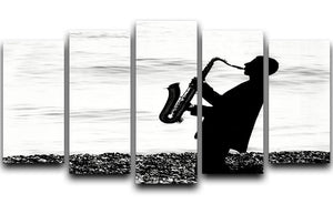 Jazz on the beach 5 Split Panel Canvas - Canvas Art Rocks - 1