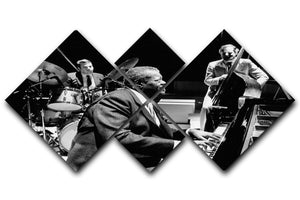 Jazz pianist Oscar Peterson 4 Square Multi Panel Canvas - Canvas Art Rocks - 1
