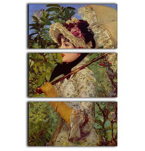 Jeanne by Manet 3 Split Panel Canvas Print - Canvas Art Rocks - 1