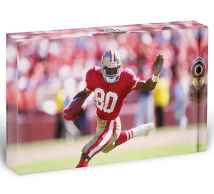 Jerry Rice San Francisco Acrylic Block - Canvas Art Rocks - 1