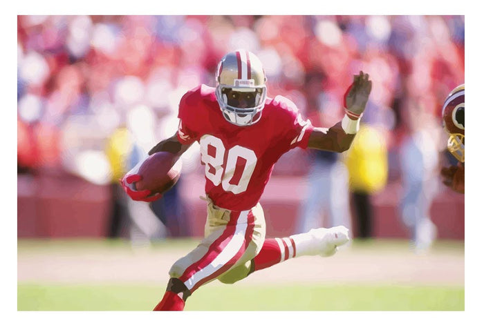 Jerry Rice San Francisco Canvas Print or Poster