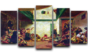 Jewish wedding after Delacroix by Renoir 5 Split Panel Canvas  - Canvas Art Rocks - 1