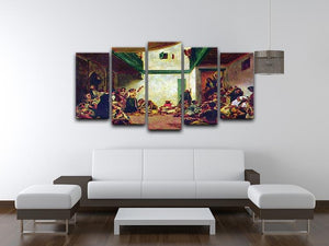 Jewish wedding after Delacroix by Renoir 5 Split Panel Canvas - Canvas Art Rocks - 3
