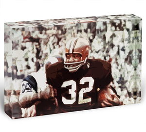 Jim Brown Cleveland Browns Acrylic Block - Canvas Art Rocks - 1
