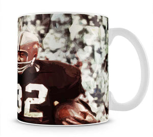 Jim Brown Cleveland Browns Mug - Canvas Art Rocks - 1