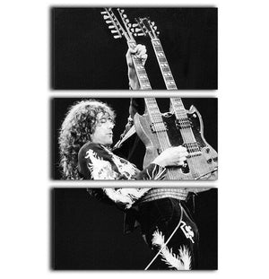 Jimmy Page of Led Zeppelin 3 Split Panel Canvas Print - Canvas Art Rocks - 1