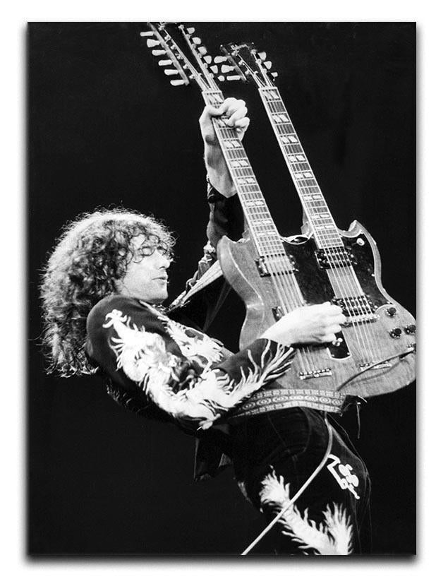 Jimmy Page of Led Zeppelin Canvas Print or Poster  - Canvas Art Rocks - 1