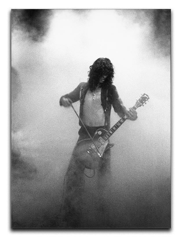 Jimmy Page on stage Canvas Print or Poster