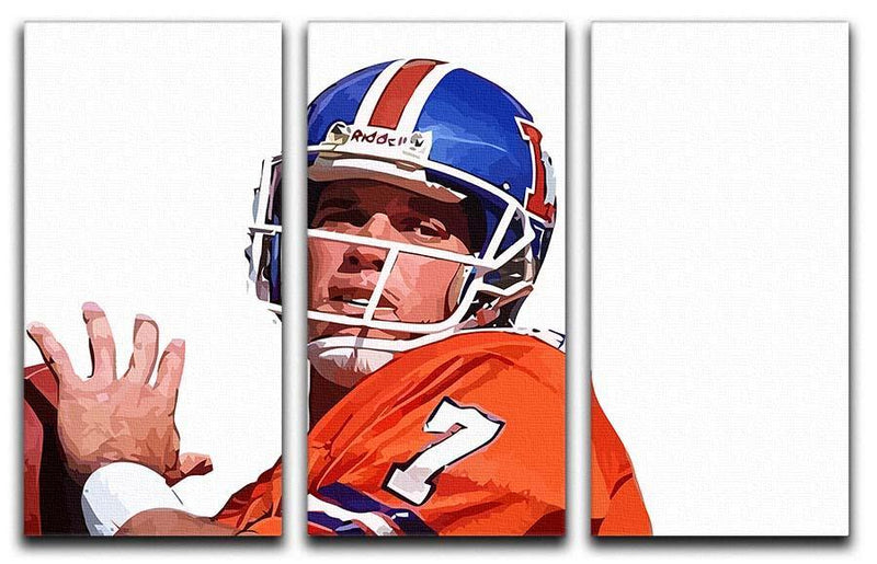 John Elway 3 Split Panel Canvas Print - Canvas Art Rocks - 1