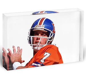 John Elway Acrylic Block - Canvas Art Rocks - 1