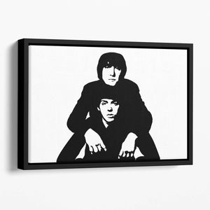John Lennon Paul McCartney Floating Framed Canvas