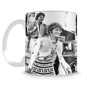 John Lennon Paul McCartney and Jane Asher getting off a plane Mug - Canvas Art Rocks - 2