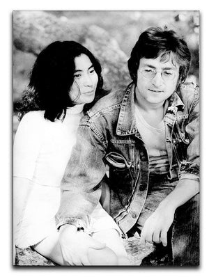 John Lennon and Yoko Ono Canvas Print or Poster  - Canvas Art Rocks - 1