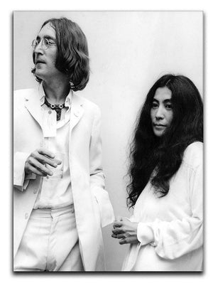 John Lennon and Yoko Ono at an exhibition Canvas Print or Poster  - Canvas Art Rocks - 1
