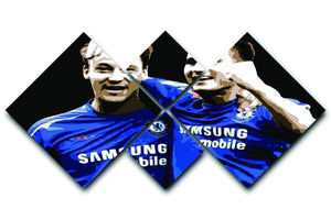John Terry and Frank Lampard 4 Square Multi Panel Canvas  - Canvas Art Rocks - 1