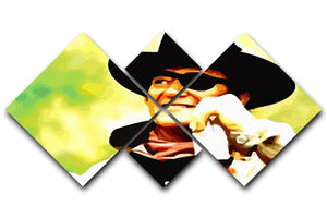 John Wayne 4 Square Multi Panel Canvas  - Canvas Art Rocks - 1