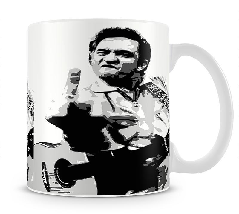 Johnny Cash Middle Finger Cup - Canvas Art Rocks - 1