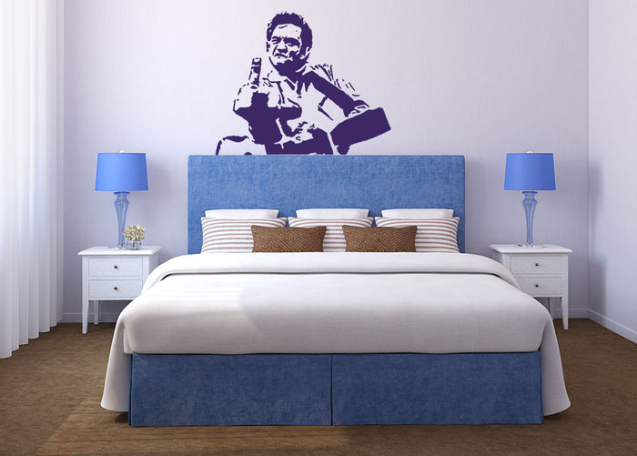 Johnny Cash Middle Finger Wall Sticker