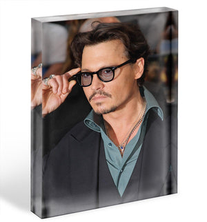 Johnny Depp Acrylic Block - Canvas Art Rocks - 1