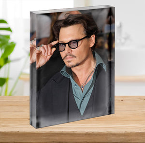 Johnny Depp Acrylic Block - Canvas Art Rocks - 2