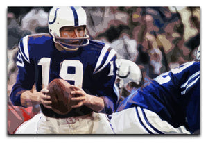 Johnny Unitas Baltimore Colts Canvas Prints - Canvas Art Rocks - 1
