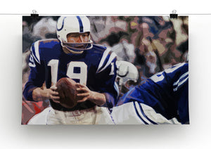 Johnny Unitas Baltimore Colts Canvas Prints - Canvas Art Rocks - 2