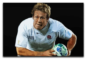 Jonny Wilkinson Running Canvas Print or Poster  - Canvas Art Rocks - 1