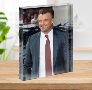 Josh Duhamel in a tie Acrylic Block - Canvas Art Rocks - 2