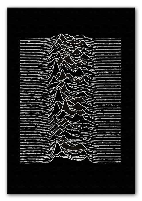 Joy Division Unknown Pleasures Print - Canvas Art Rocks - 1
