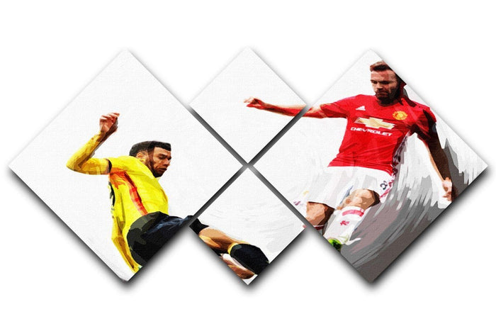 Juan Mata Man United 4 Square Multi Panel Canvas