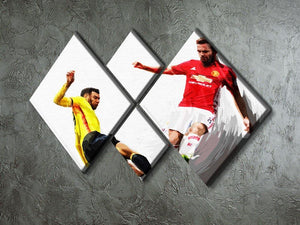 Juan Mata Man United 4 Square Multi Panel Canvas - Canvas Art Rocks - 2