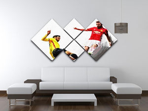 Juan Mata Man United 4 Square Multi Panel Canvas - Canvas Art Rocks - 3