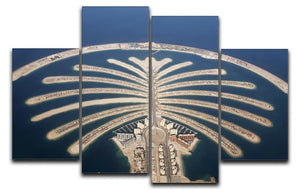 Jumeirah Palm Island Development 4 Split Panel Canvas  - Canvas Art Rocks - 1