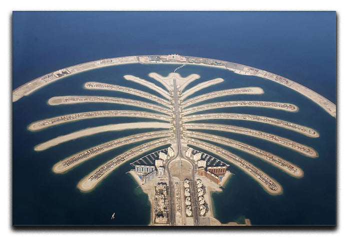 Jumeirah Palm Island Development Canvas Print or Poster