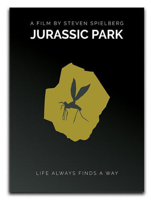 Jurassic Park Life Always Finds A Way Minimal Movie Canvas Print or Poster  - Canvas Art Rocks - 1