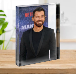 Justin Theroux Acrylic Block - Canvas Art Rocks - 2
