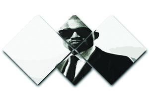 Kanye 4 Square Multi Panel Canvas  - Canvas Art Rocks - 1