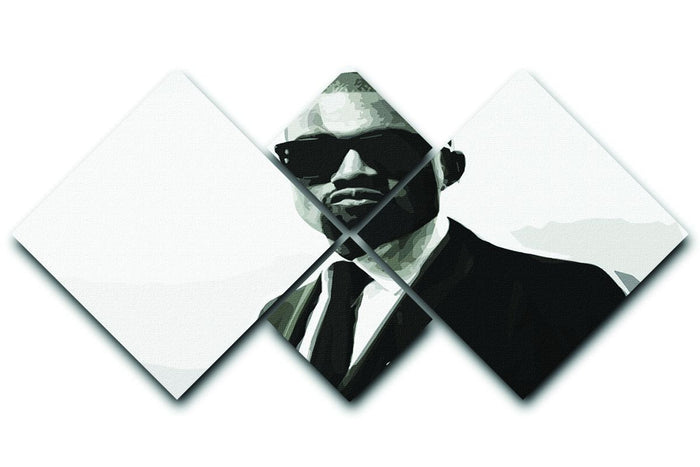 Kanye 4 Square Multi Panel Canvas