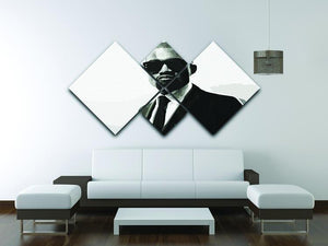 Kanye 4 Square Multi Panel Canvas - Canvas Art Rocks - 3