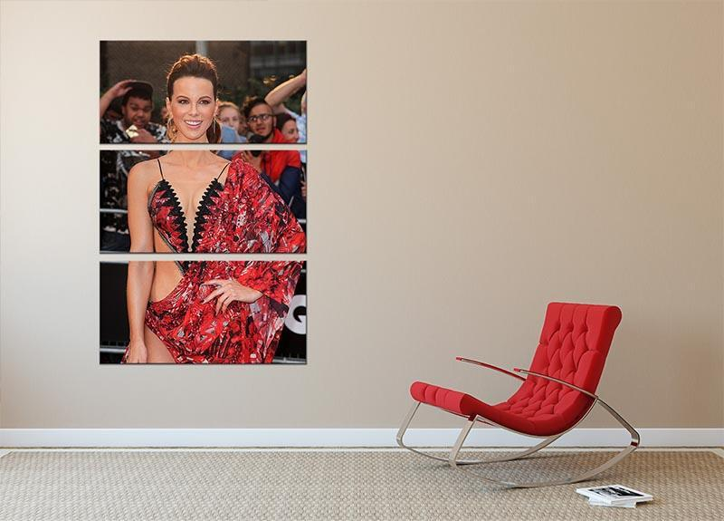 Kate Beckinsale 3 Split Panel Canvas Print - Canvas Art Rocks - 2