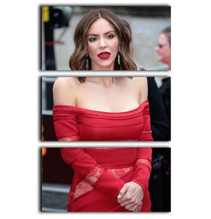 Katharine McPhee 3 Split Panel Canvas Print - Canvas Art Rocks - 1