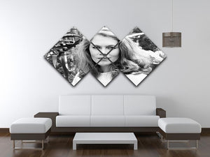 Kathleen Turner 4 Square Multi Panel Canvas  - Canvas Art Rocks - 3