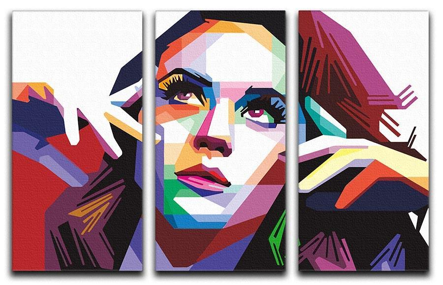 katy perry pop art 3 split panel canvas print canvas art rocks
