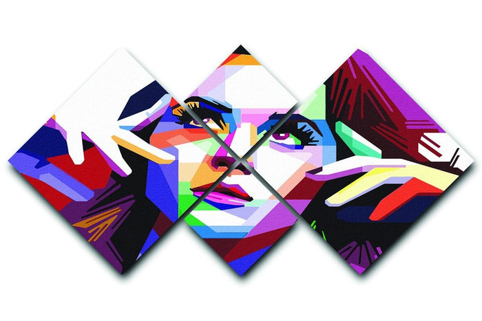 Katy Perry Pop Art 4 Square Multi Panel Canvas