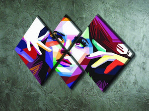 Katy Perry Pop Art 4 Square Multi Panel Canvas - Canvas Art Rocks - 2