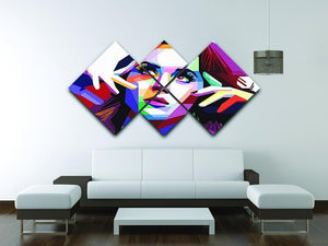 Katy Perry Pop Art 4 Square Multi Panel Canvas - Canvas Art Rocks - 3