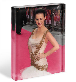Katy Perry Red Carpet Acrylic Block - Canvas Art Rocks - 1