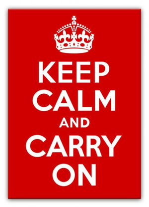 Keep Calm and Carry On Print - Canvas Art Rocks - 1