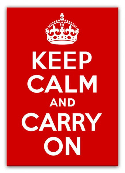 Keep Calm and Carry On Canvas Print or Poster
