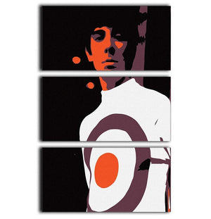 Keith Moon 3 Split Panel Canvas Print - Canvas Art Rocks - 1